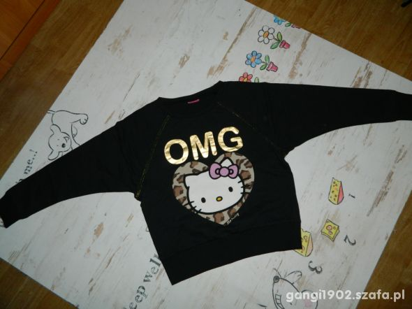 Hello Kitty luźna bluza OMG roz 140