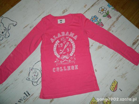 LOGG h&m bluzka nadruk roz 122