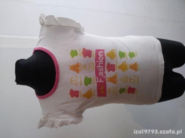 biała bluzka 122 koszulka