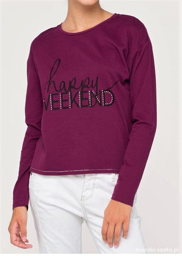 128 C&A Bluzka szerszy fason Happy Weekend