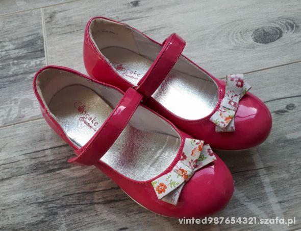 Różowe lakierki dla dziewczynki CupCake rozmiar 29