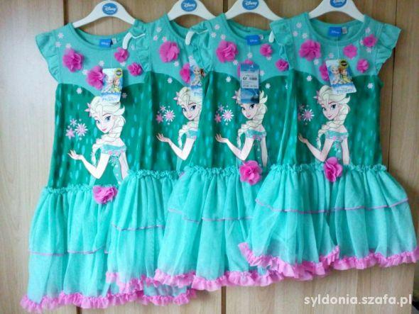 Disney Frozen Elza Elsa Sukienka Sukienki rozmiary