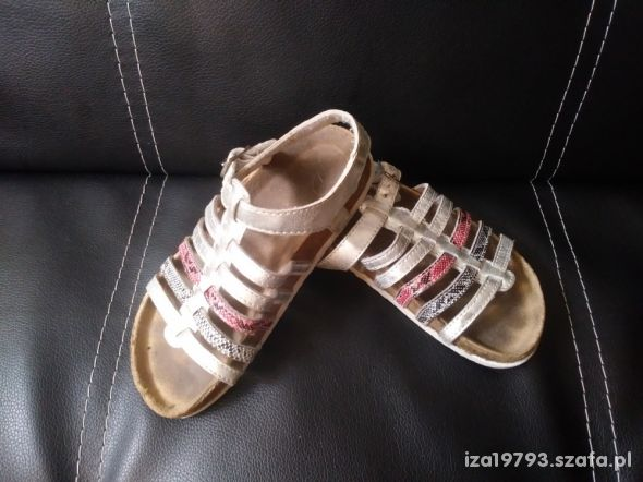 buty sandały rozmiar 28 srebrne paski