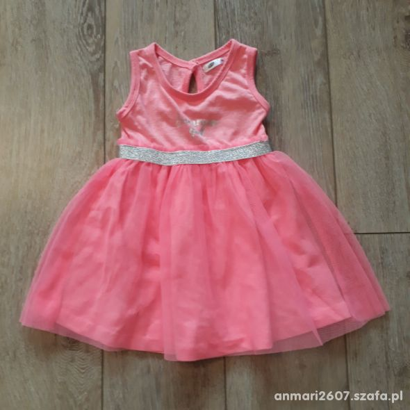 Różowa sukienka letnia roz 86
