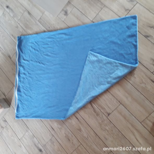 Poszewka na kołderkę niebieska frotte 70x120