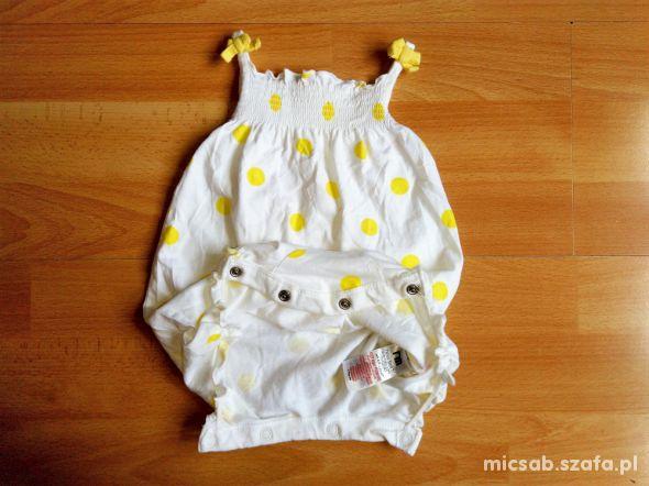 NEW BABY Mothercare krótki kombinezon lato 52 56