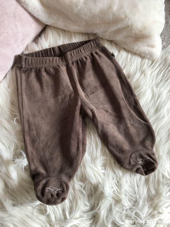 Spodnie pajacyk welur brąz 56