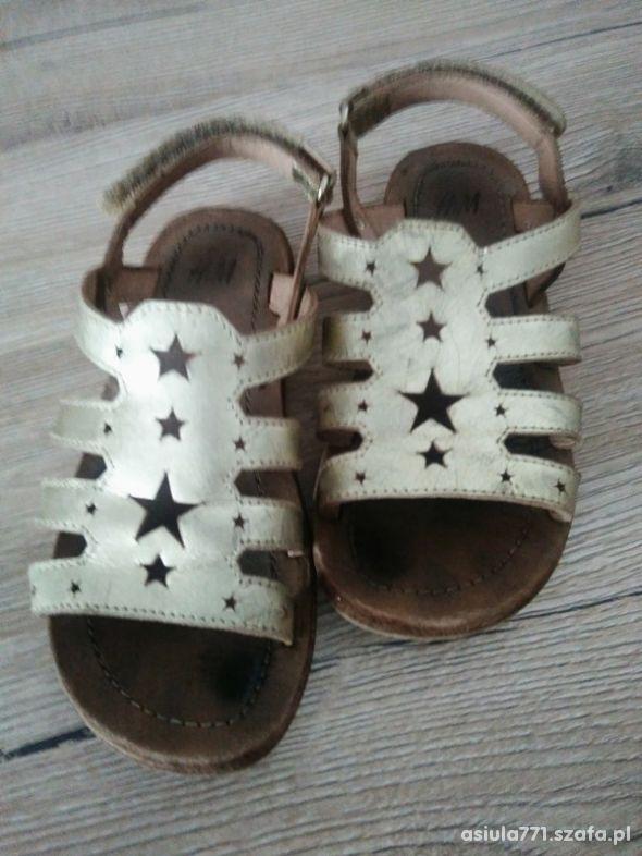 Sandałki h&m złote 28