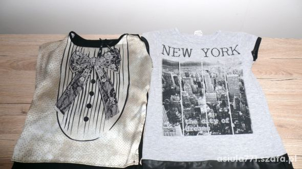 zestaw bluzeczek na 110 cm