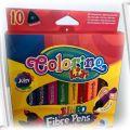 COLORINO KIDS flamastry trójkątne jumbo 10szt NOWE