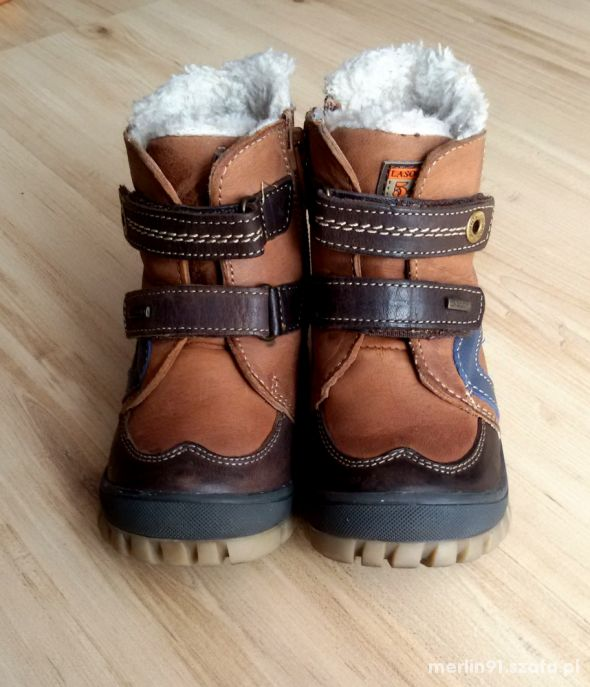 Buty zimowe skórzane Lasocki Kids 22