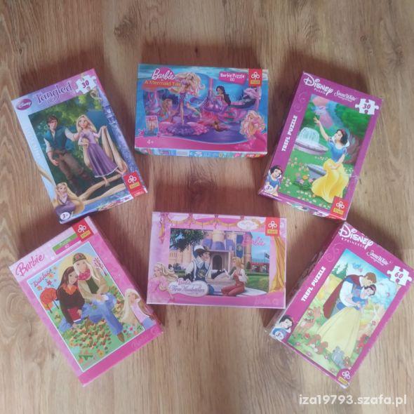 puzzle 30 60 elementów Barbie i inne Trefl