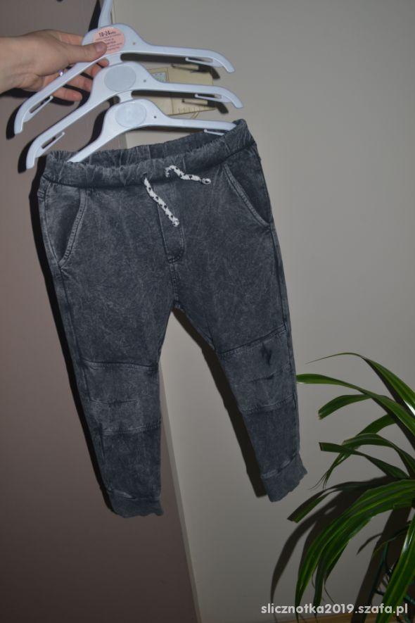 Zara spodnie joggersy szare 5 lat 104cm 110cm