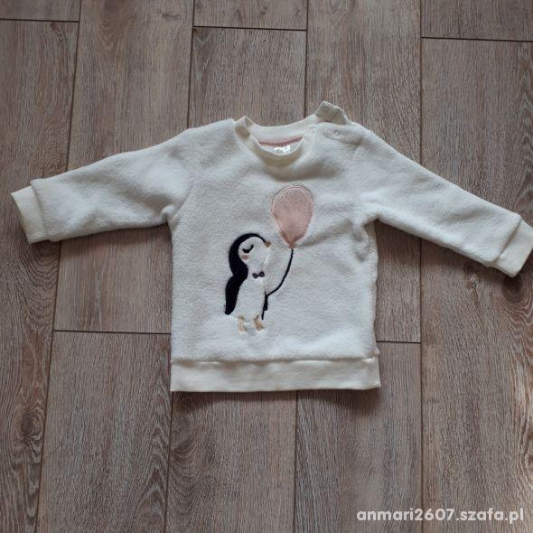 Biała bluza dla dziewczynki H&M roz 80