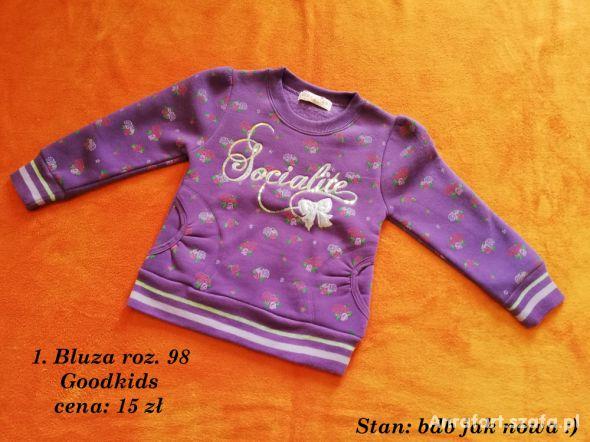 1 Bluza roz 98 Goodkids
