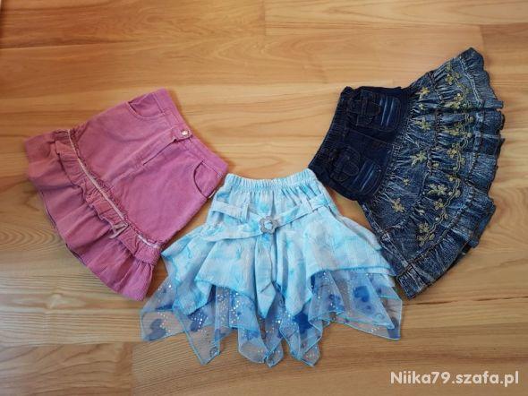 3 x spódniczki dla dziewczynki 116 122