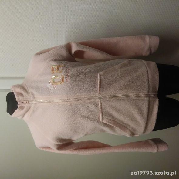 bluza polar 7 8 lat różowa rozpinana