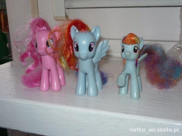 HASBRO kucyki pony trzy figurki