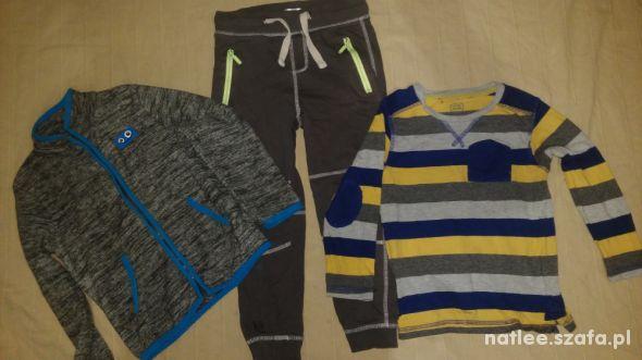 Spodnie bluzka i polar 104 i 110
