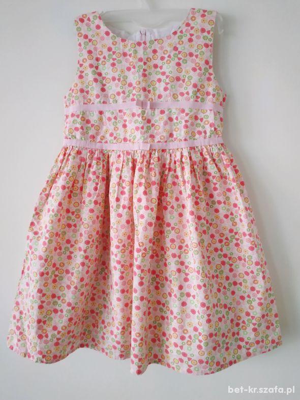 Sukienka w kwiatki r 110
