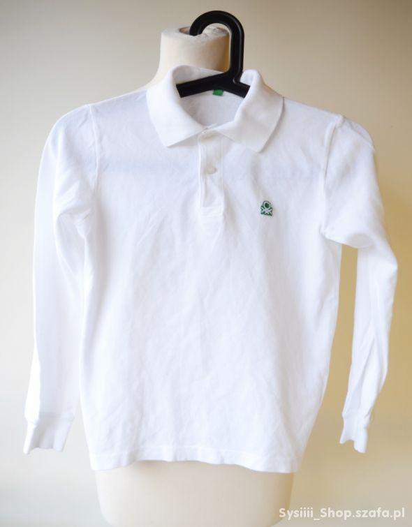 Koszulka Polo Biała Benetton 146 cm 11 lat Bluzka