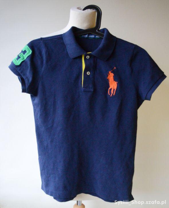 Koszulka Polo Granatowa Ralph Lauren 160 cm 14 lat