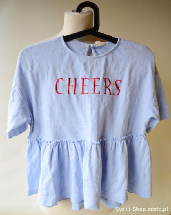 Bluzka Niebieska Cheers Zara Girls 164 cm 13 14 la