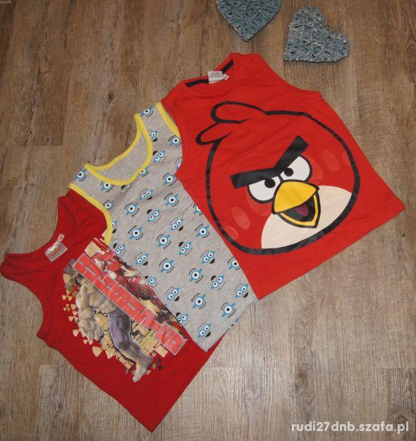 Bluzeczka koszulka zestaw Angry Birds Minionki