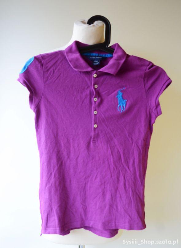 Koszulka Polo Ralph Lauren Fioletowa 12 14 lat 152