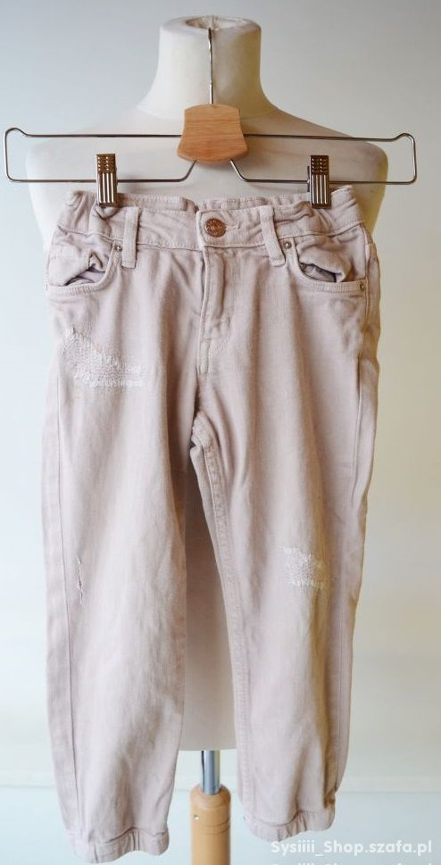 Spodnie Loose Brudny Róż H&M 110 cm 4 5 lat