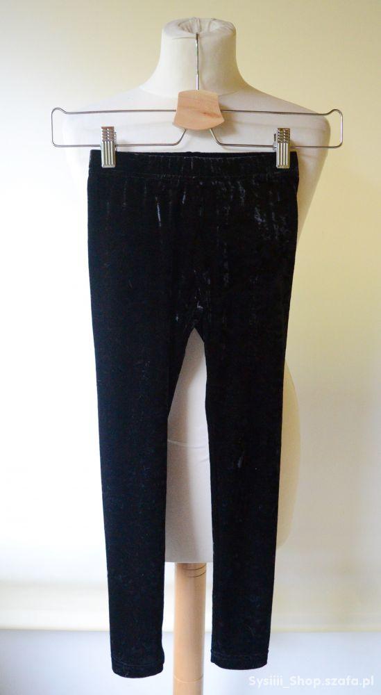 Legginsy Czarne Lindex 128 cm 7 8 lat Welurowe 29
