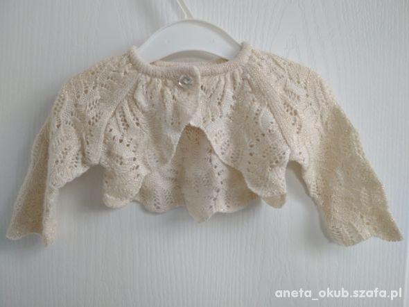 Sweterek ze złotą nitką