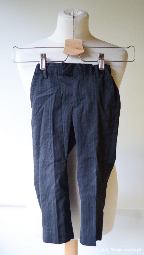 Spodnie Czarne Eleganckie H&M Paski 98 cm 2 3