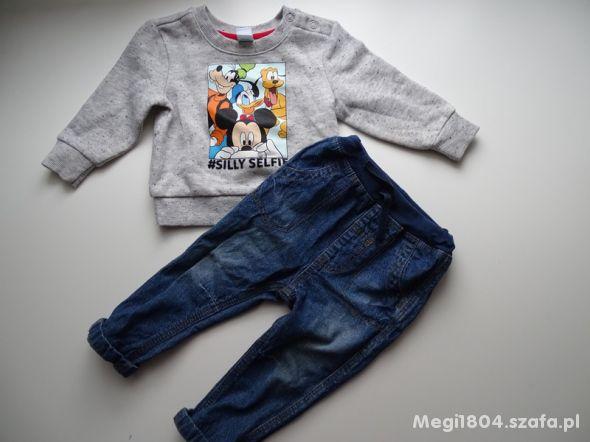 Bluza i jeansy rozm 74
