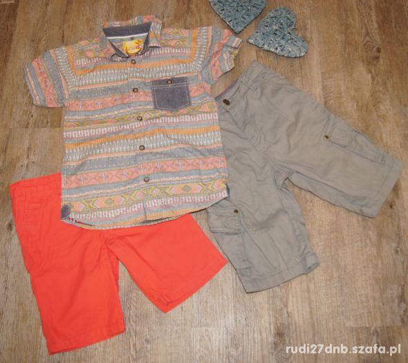 Zestaw chłopiec koszula szorty spodenki rozm 122
