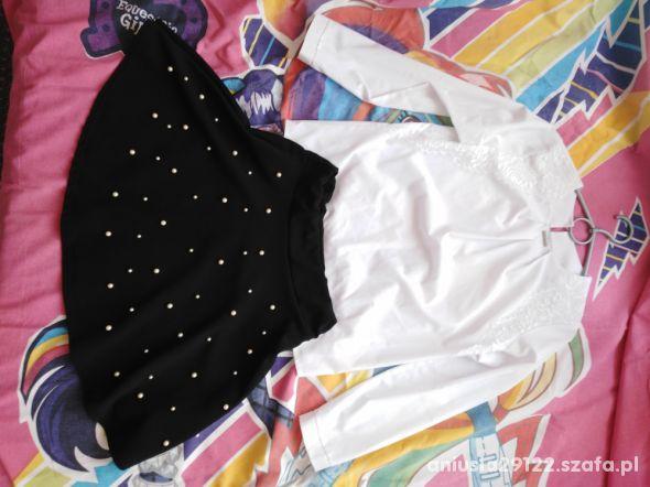 Komplet elegancki rozmiar 140 146 bluzka spódniczk