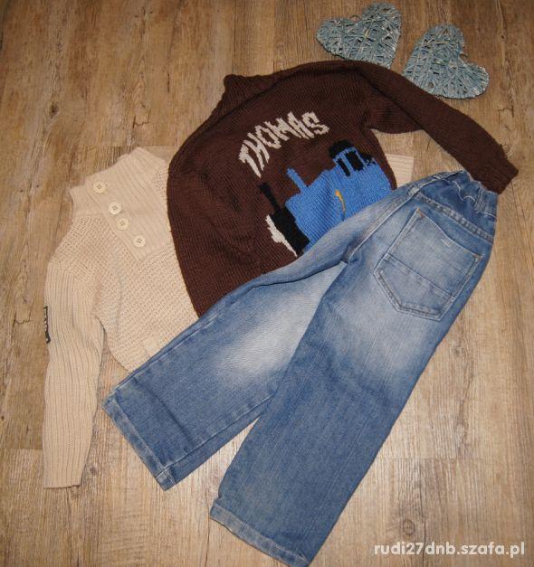 Zestaw chłopiec sweterki spodnie Thomas rozm 110