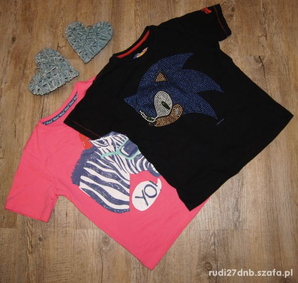 Bluzeczka koszulka zestaw Zebra Sonic Rebel 122