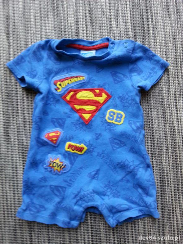 Rampers niemowlęcy krótki superbaby komiks 62 cm