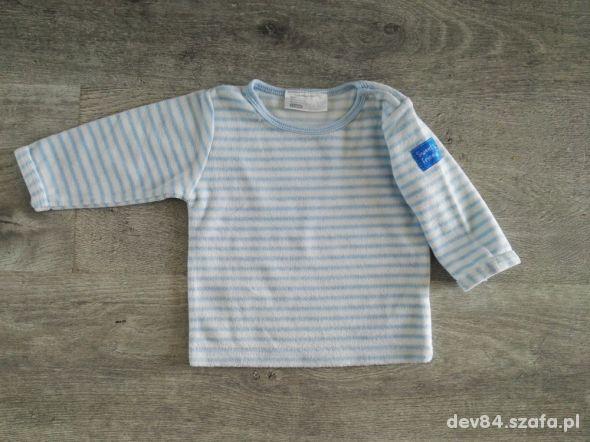 Ciepła bluzka niemowlęca z długim rękawem welur ro