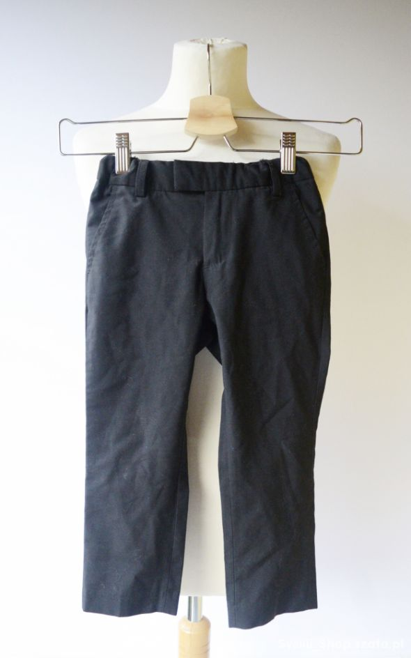 Spodnie H&M 98 2 3 lata Czarne Eleganckie Garnitur