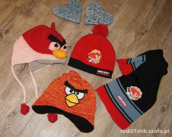 Czapki szalik zestaw Angry Birds rozm 4 do 6 lat
