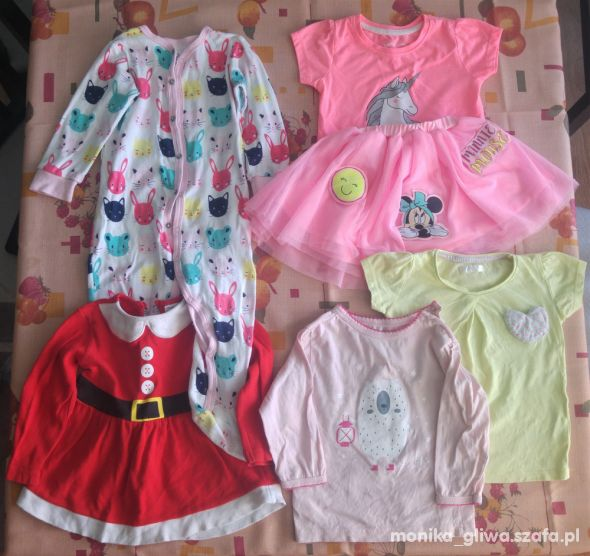 Ubranka dla dziewczynki rozmiar 80
