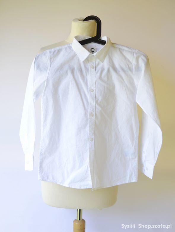 Koszula Biała Cubus 128 cm 8 lat Elegancka Biel