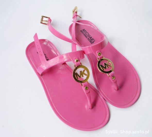 Sandały Japonki Michael Kors MK Różowe 35 22 cm Ro