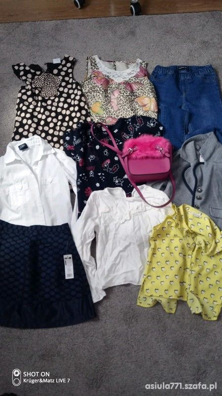 Zestaw ubranek dla dziewczynki 134