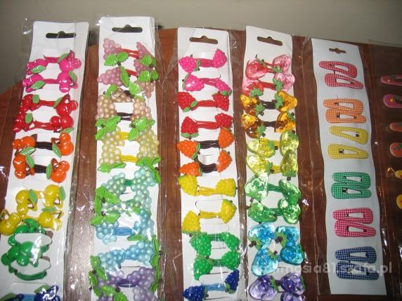 spinki gumki owocowy zestaw 60szt