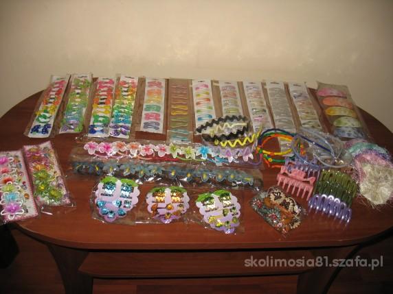 spinki gumki opaski mega zestaw