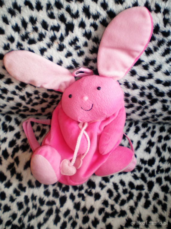 rózowy plecaczek króliczek