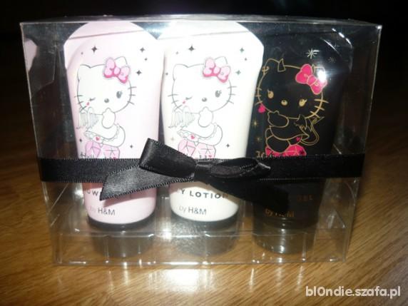 zestaw kosmetyków hello kitty x3 h&m nowy